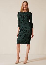 Benita Sleeved Tapework Dress