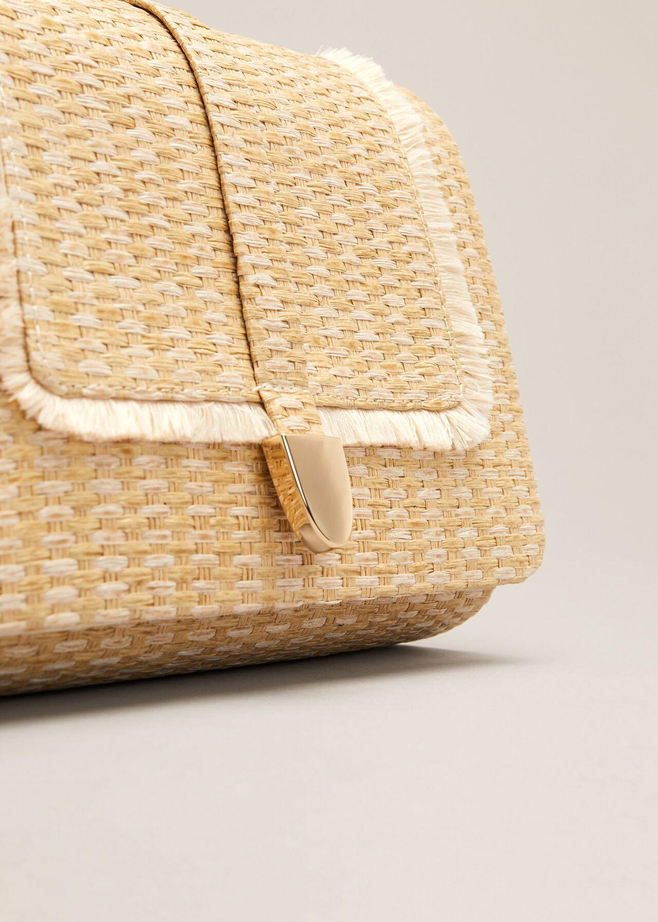 Rita Raffia Clutch Bag