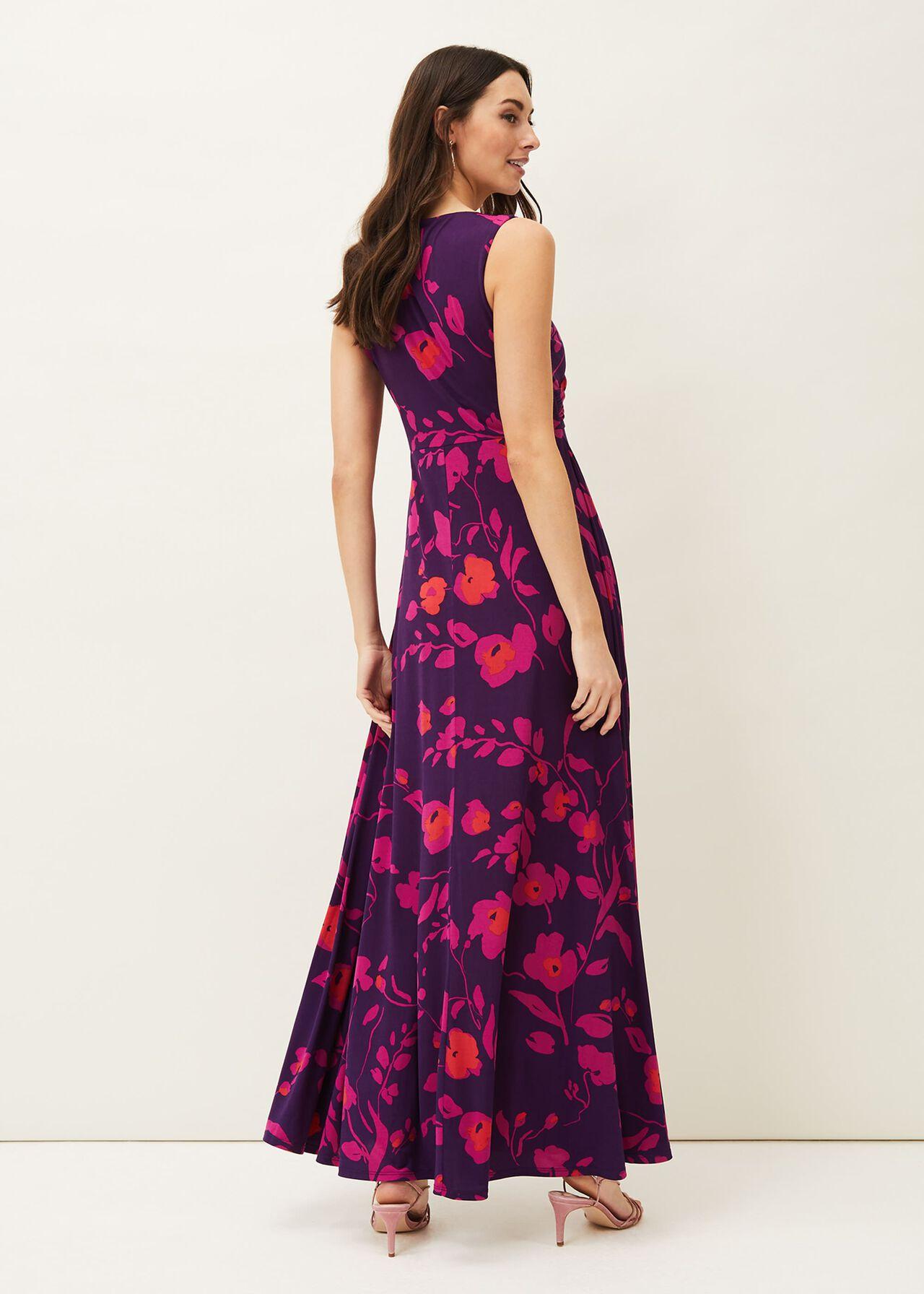 Isla Floral Sleeveless V-Neck Maxi Dress