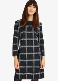 Sybil Sketched Check Tunic