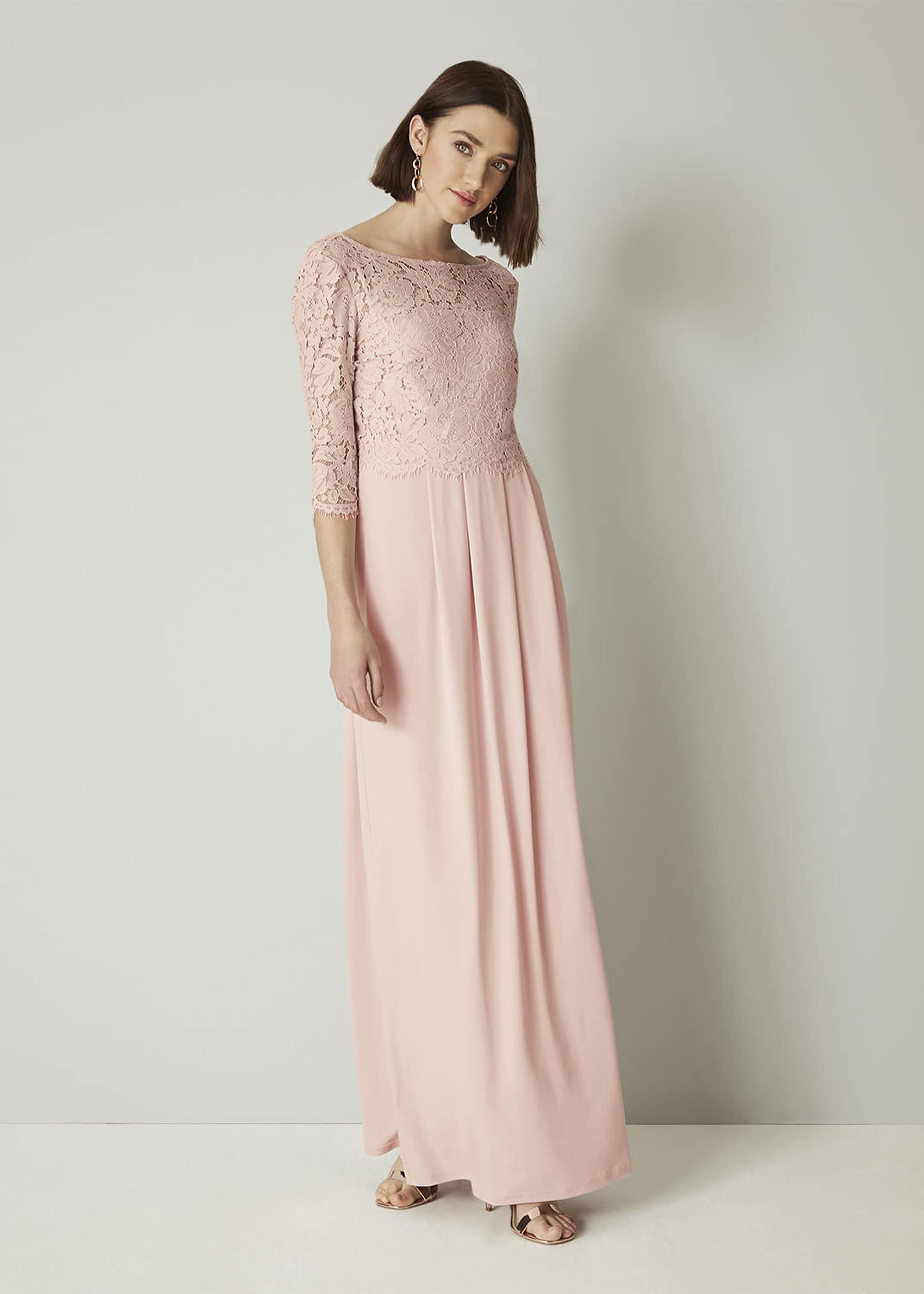 Portia Lace Maxi Bridesmaid Dress