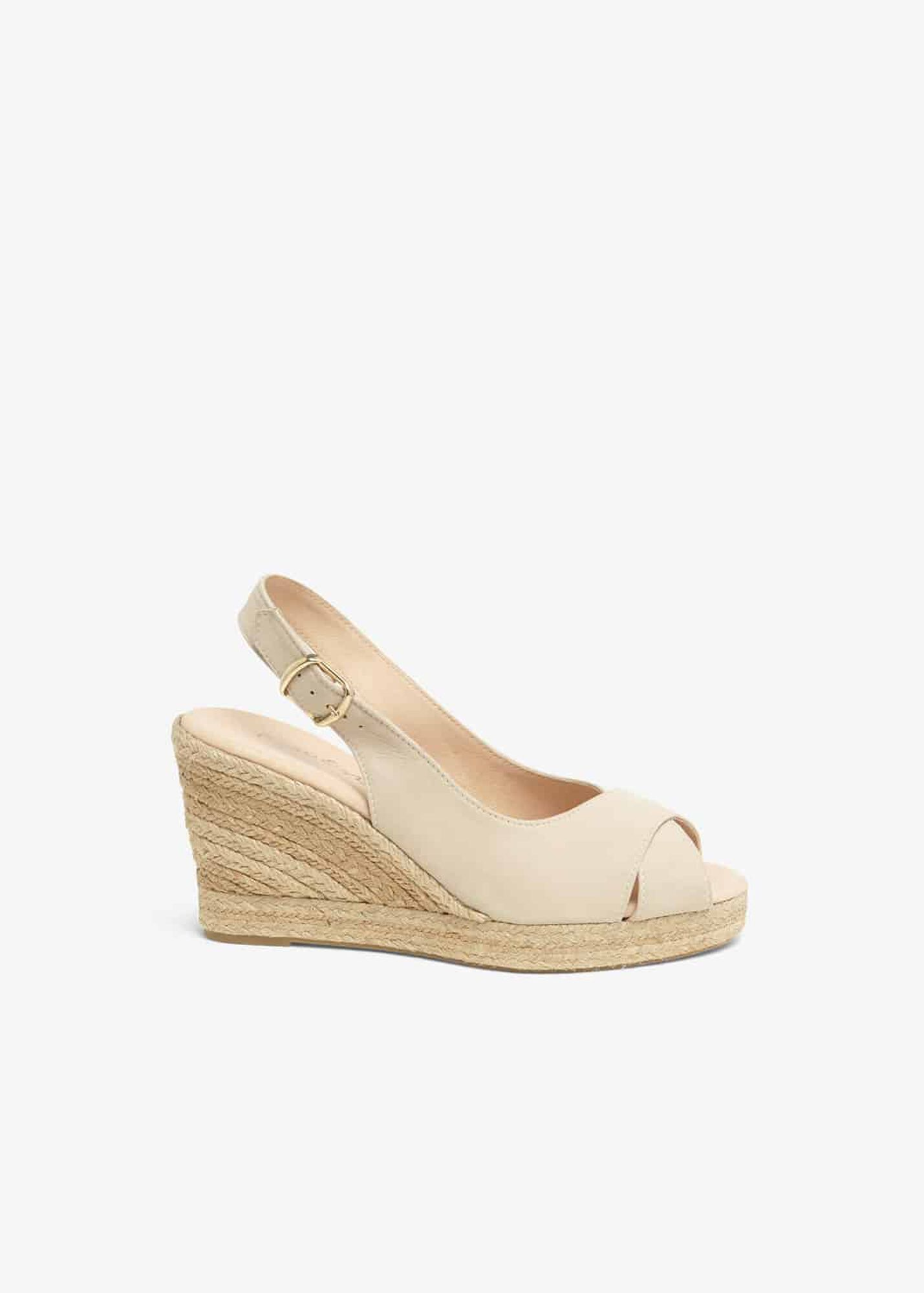 7de444e966e Lana Leather Peep Toe Espadrille Wedge Shoes | Phase Eight | Phase Eight