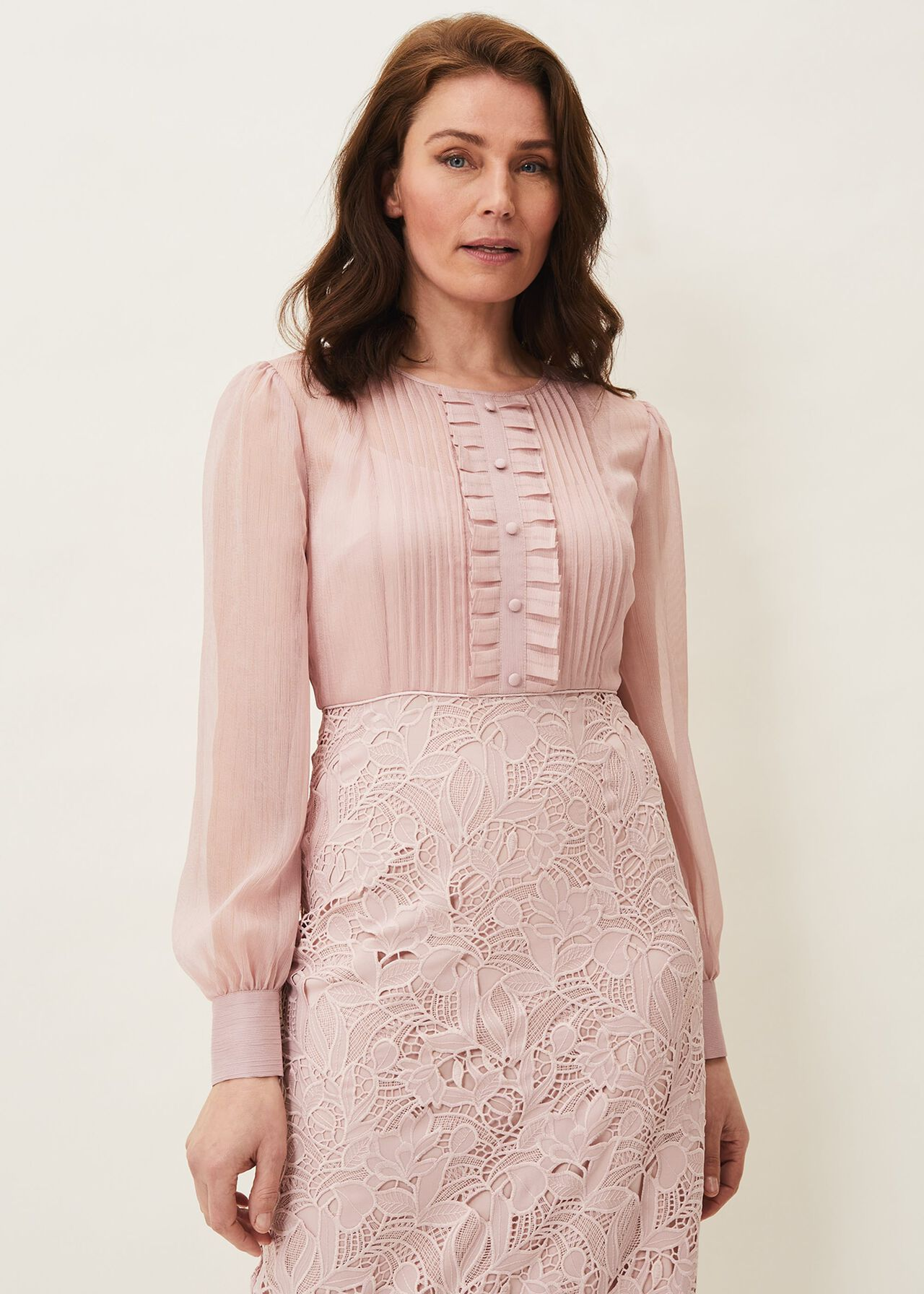 Aldora Chiffon Lace Dress