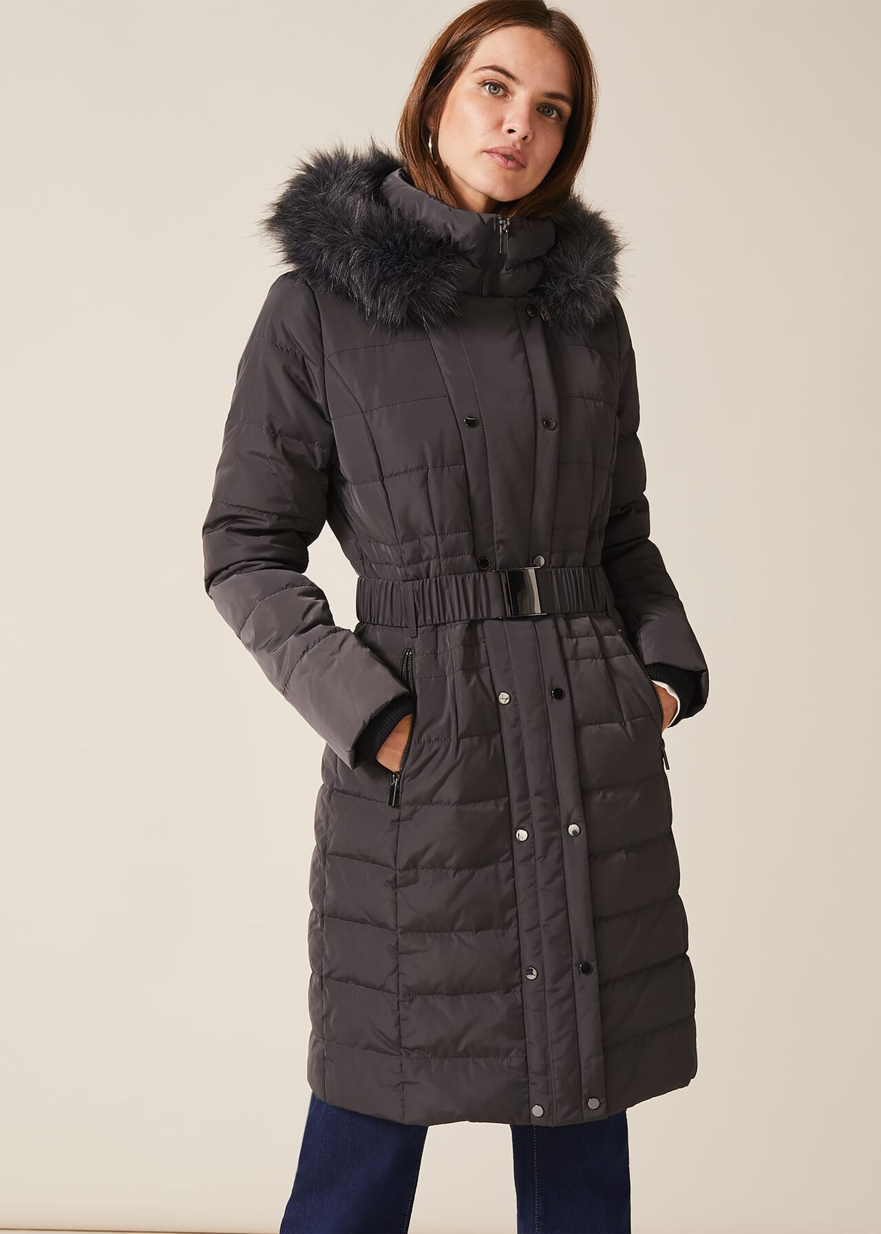 Leona Long Puffer by Phase Eight