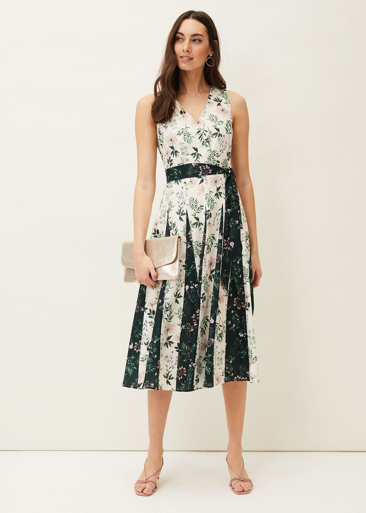 ${product-id}-Bernita Floral Fit And Flare Dress--${view-type}