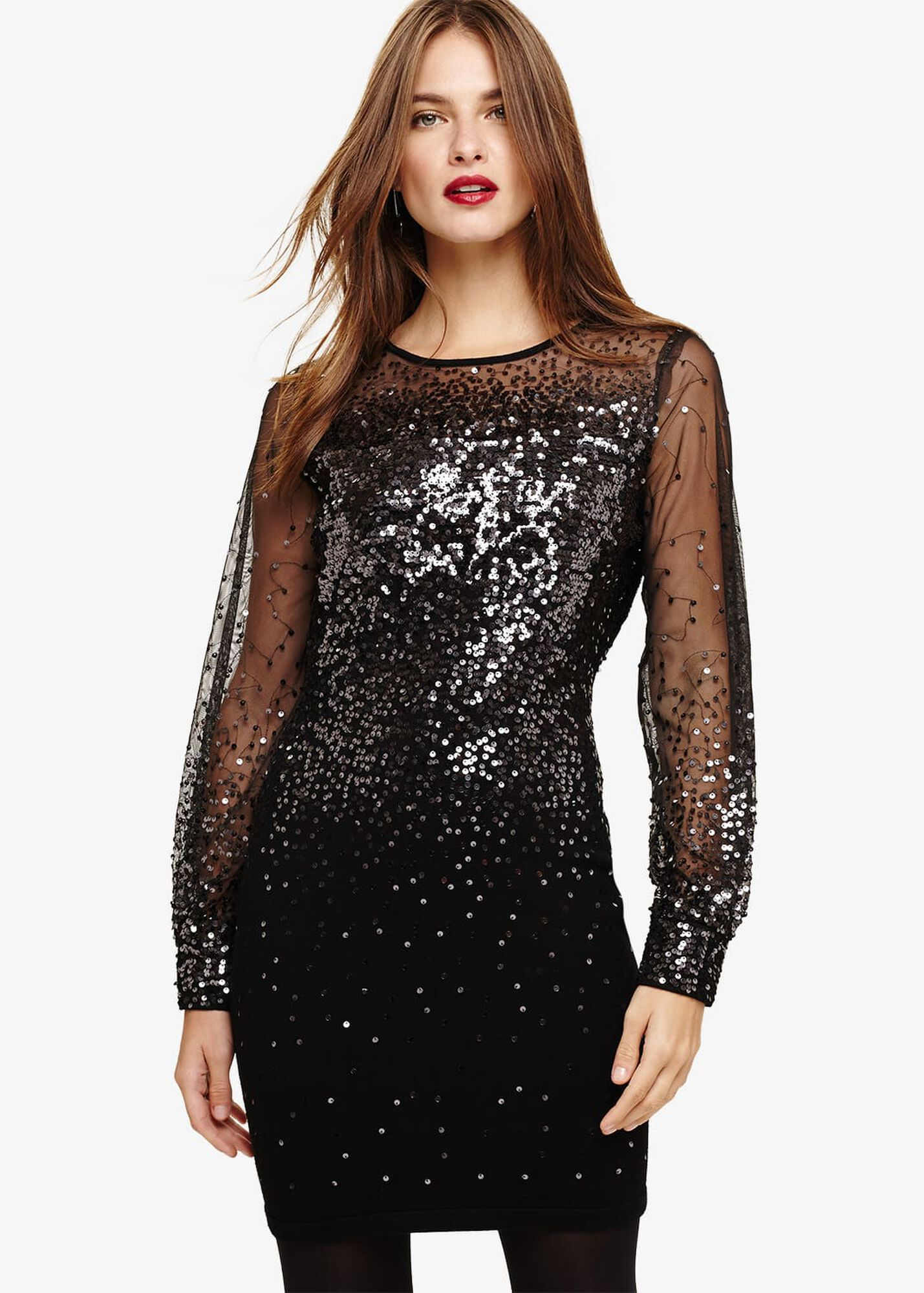 52c22af4 Matilda Balloon Sleeve Sequin Dress | Phase Eight | Phase Eight