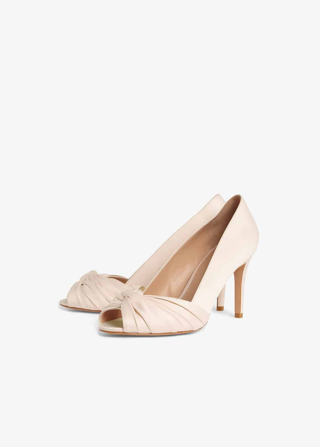 Minnie Knot Front Peep Toe Shoes