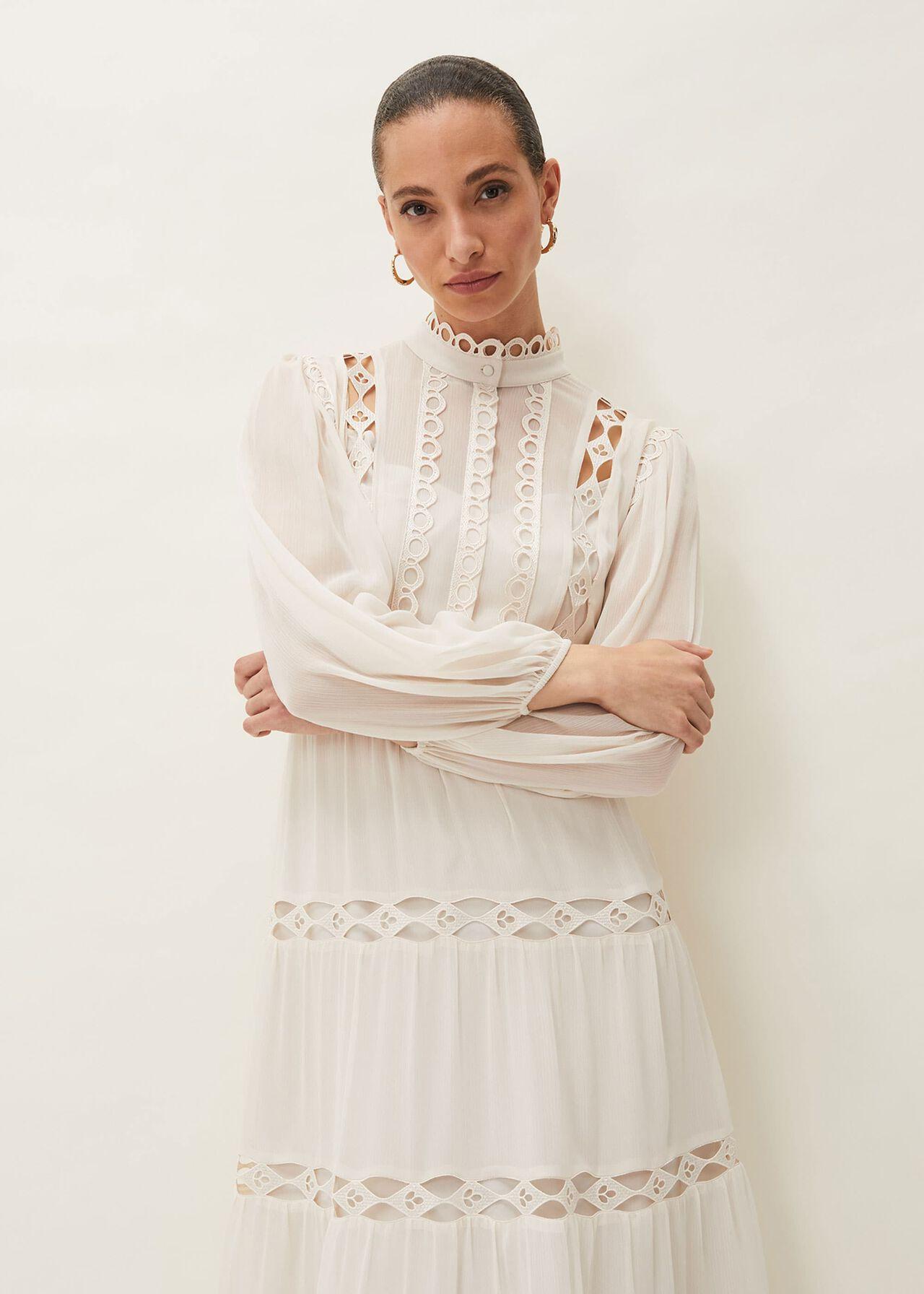 Amberlee Cutwork Midi Dress