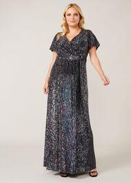 Amily Sequin Maxi Dress