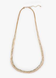 Marcella Triple Row Facet Stone Necklace