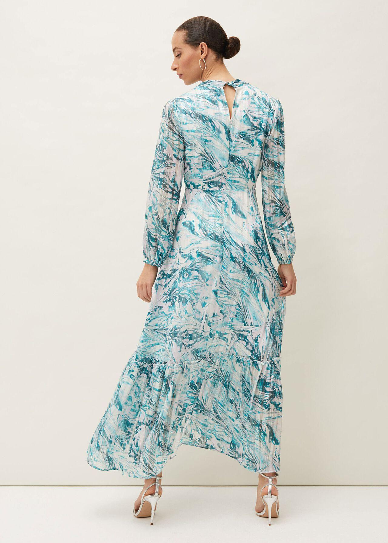 Lauretta Abstract Print Maxi Dress