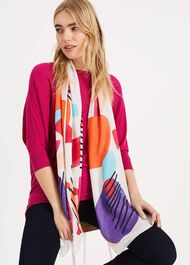 Gisella Abstract Print Scarf