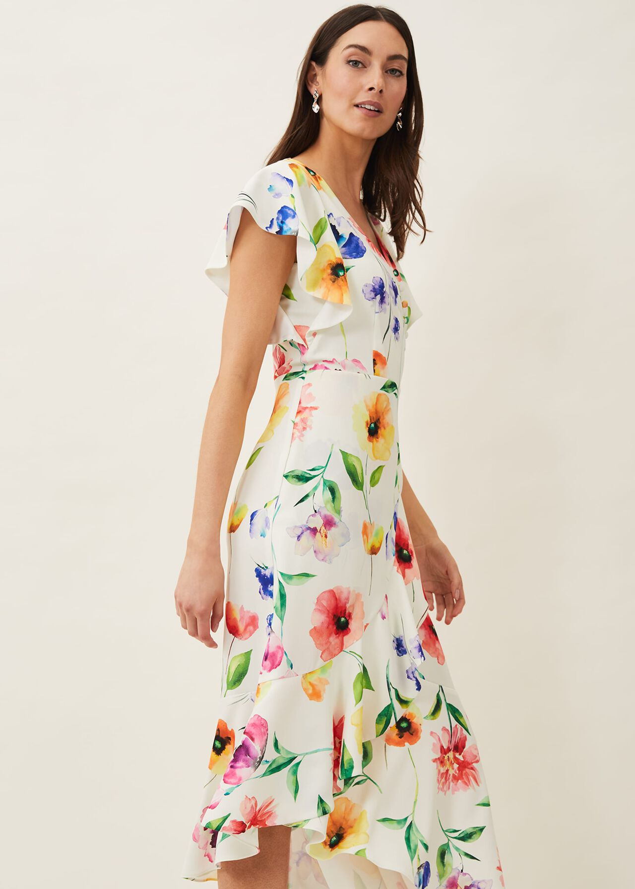 Anthea Floral Frill Dress
