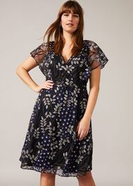 Ida Floral Embroidered Dress