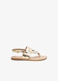 Katarina Leather Flat Sandals