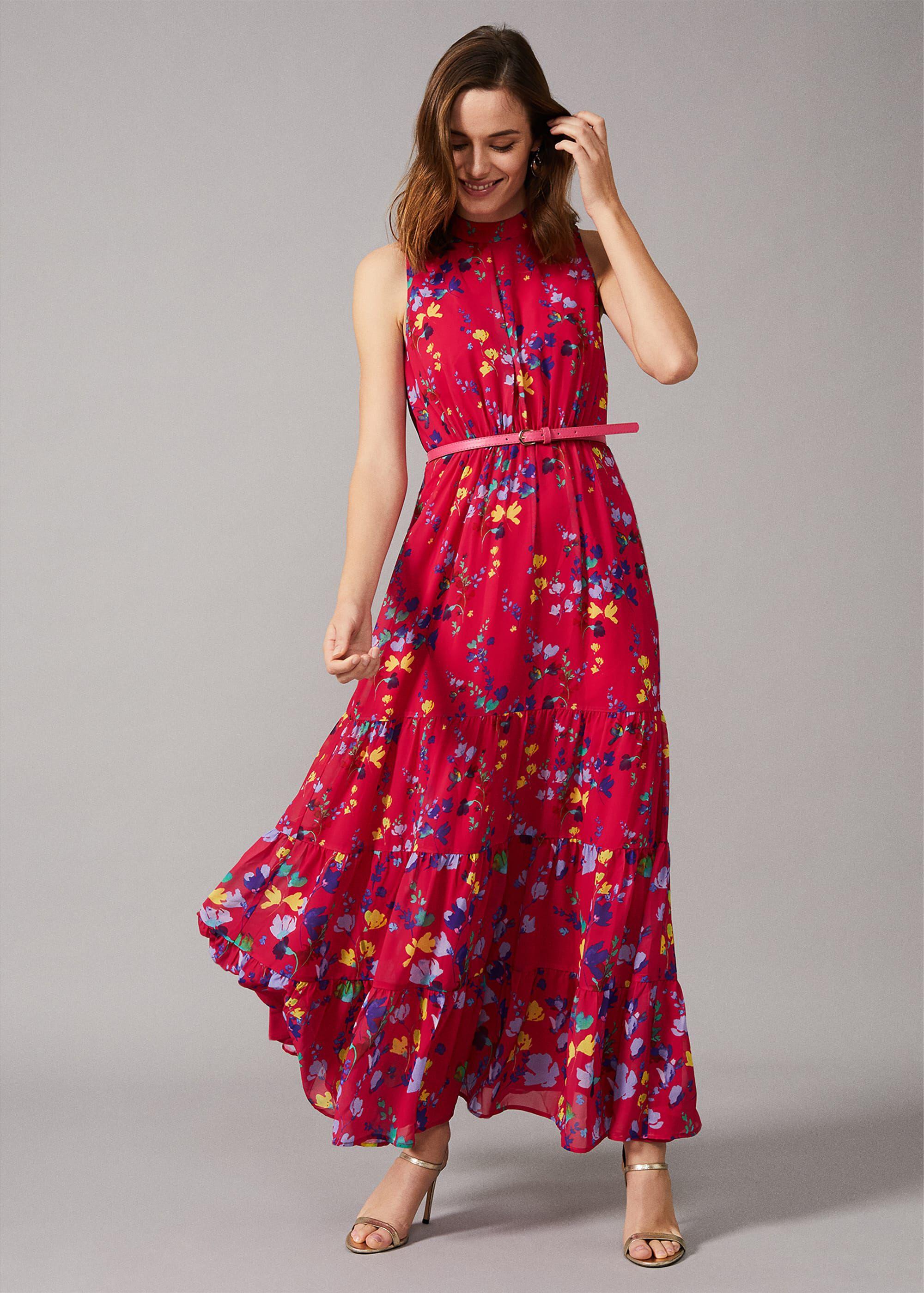 PHASE EIGHT Ditsy Black Floral Halterneck Swimsuit Size UK 10 12 14 16
