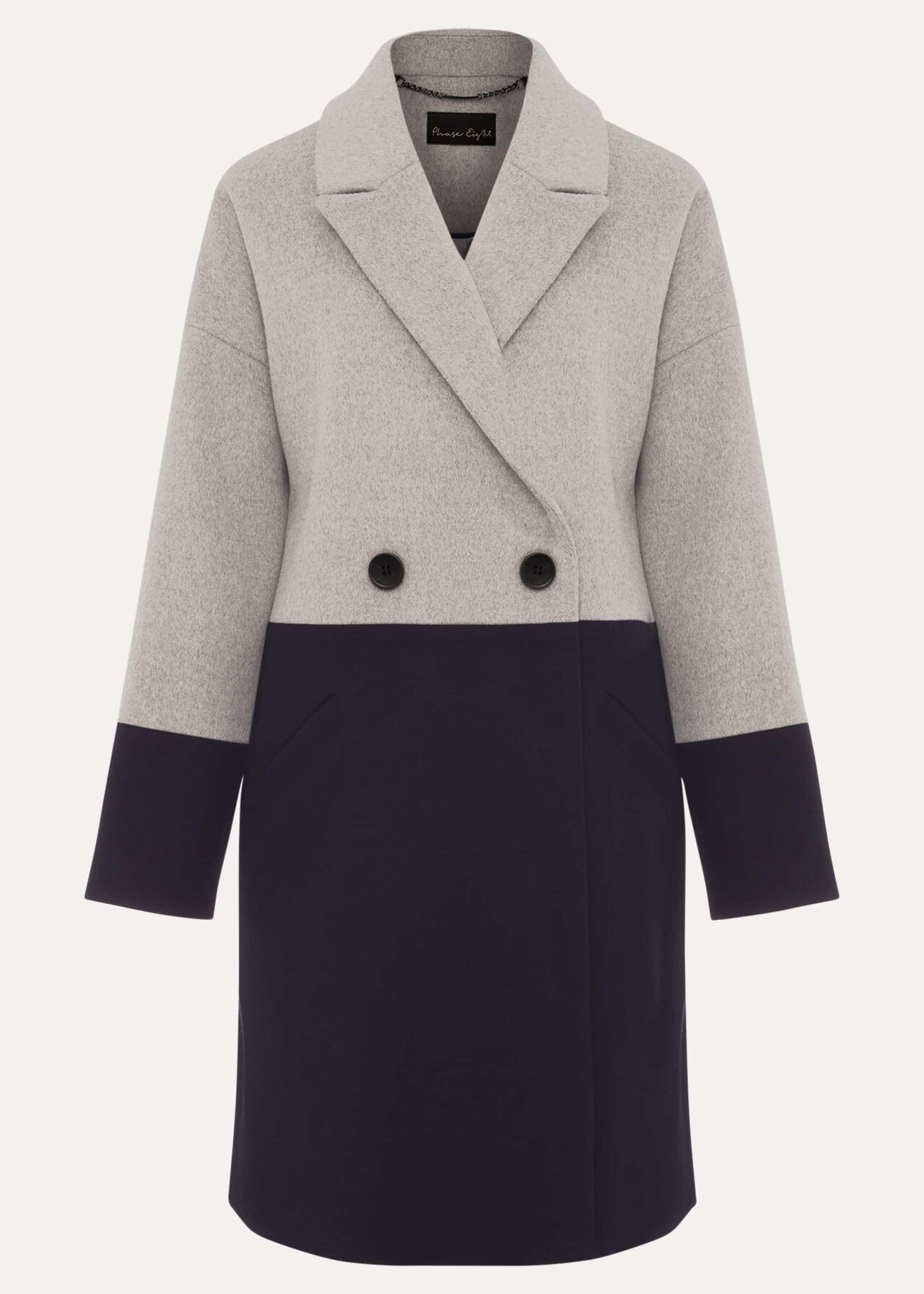 Emery Colourblock Wool Coat