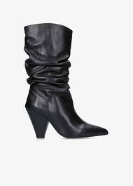 Scrunch Calf Length Boots