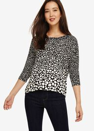 Piera Spot Knitted Top