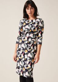 Laina Leaf Print Dress