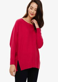 Eve Exposed Seam Boxy Knitted Jumper