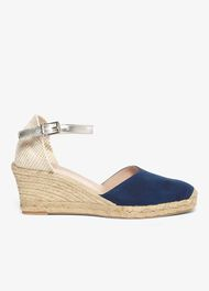 Kimmy Leather Espadrille Wedge Shoes
