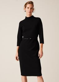 Sheree High Neck Fitted Dress
