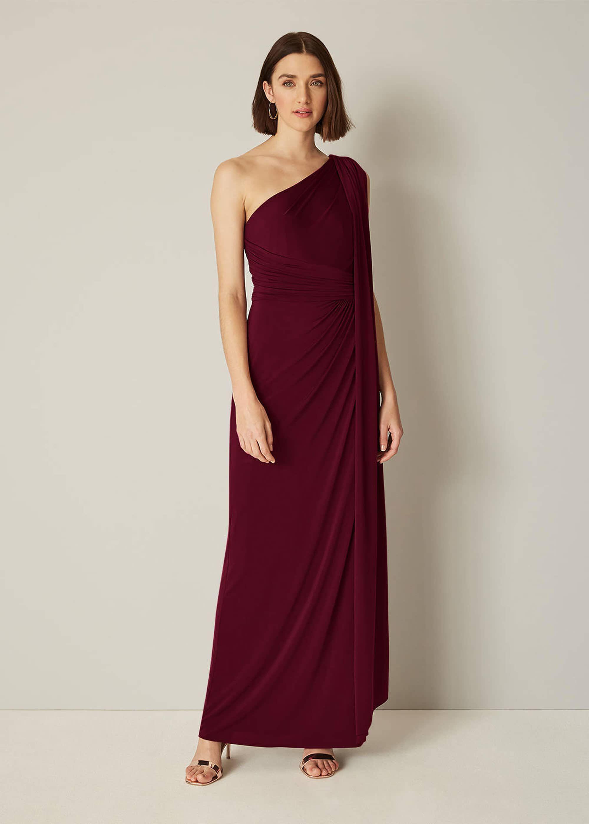 One Shoulder Maxi Bridesmaid Dress