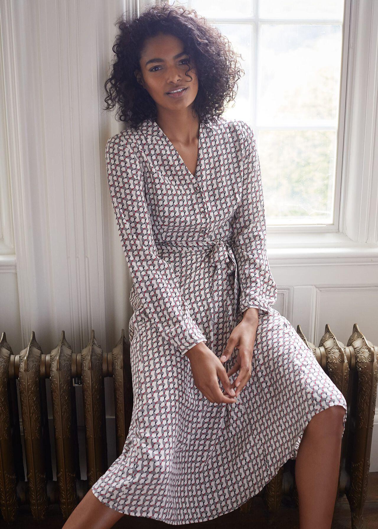 Nellie Geometric Print Dress