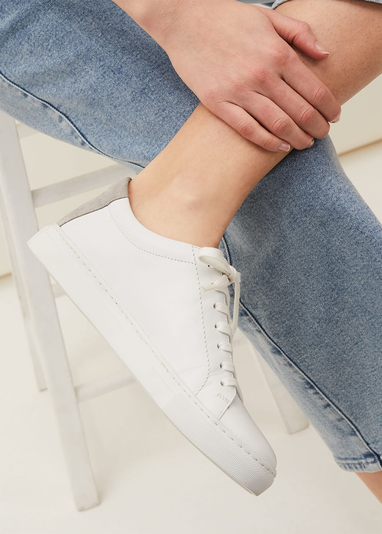 Fleur Leather Trainers