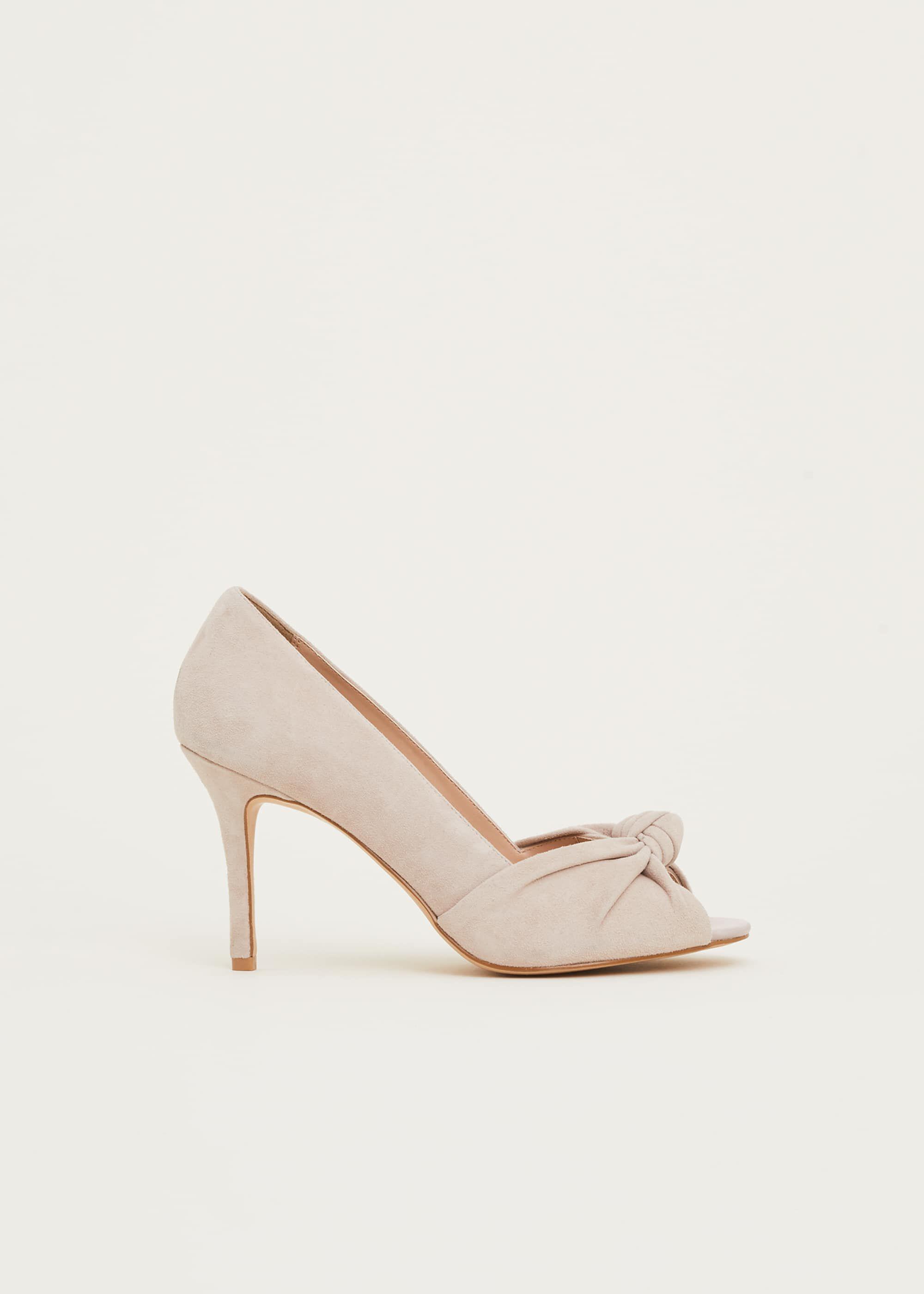 Sonja Suede Peep Toe Shoe | Phase Eight