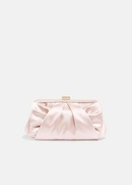 Alice Satin Bow Clutch Bag