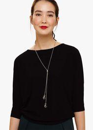 Esta Facet Bead Lariat Necklace