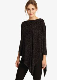 Melinda Jacquard Asymmetric Knitted Jumper