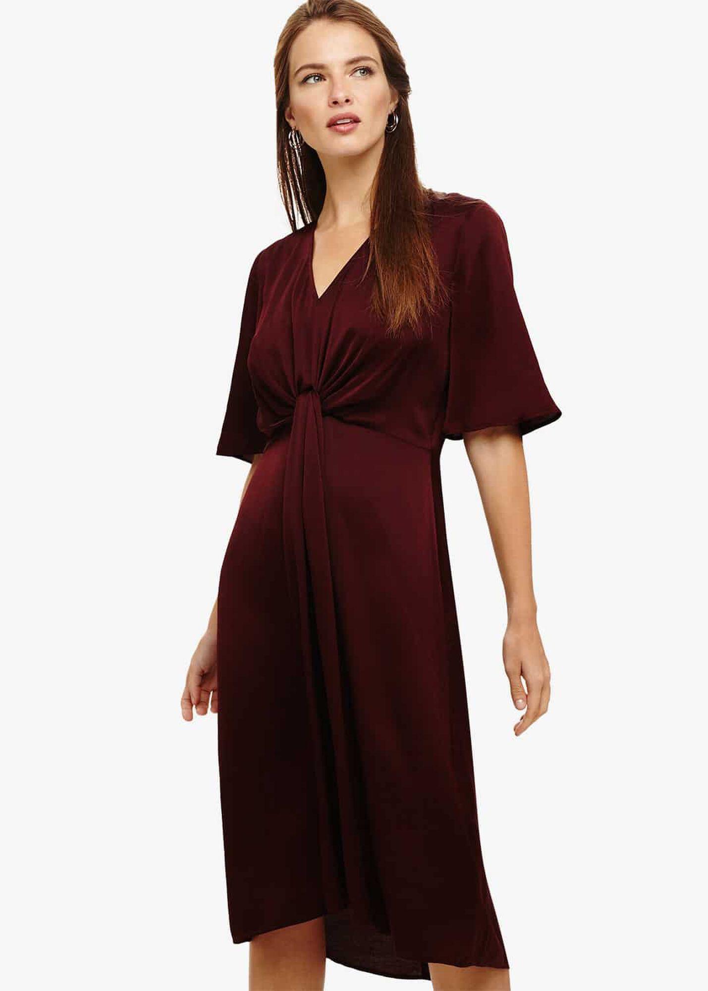 26f755130f9b Rosina Fluted Knot Midi Dress | Phase Eight | Phase Eight