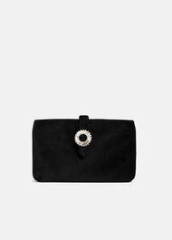 Cat Velvet Jewel Clutch Bag