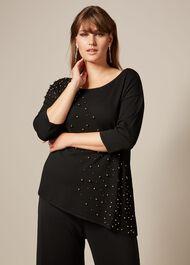 Adina Beaded Knit Top