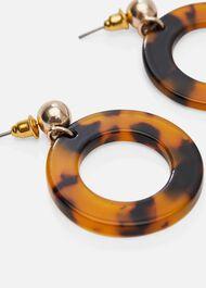 Rene Resin Circle Drop Earrings