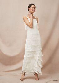 Elecia Fringe Wedding Dress