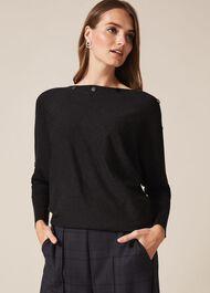 Brenda Button Knit