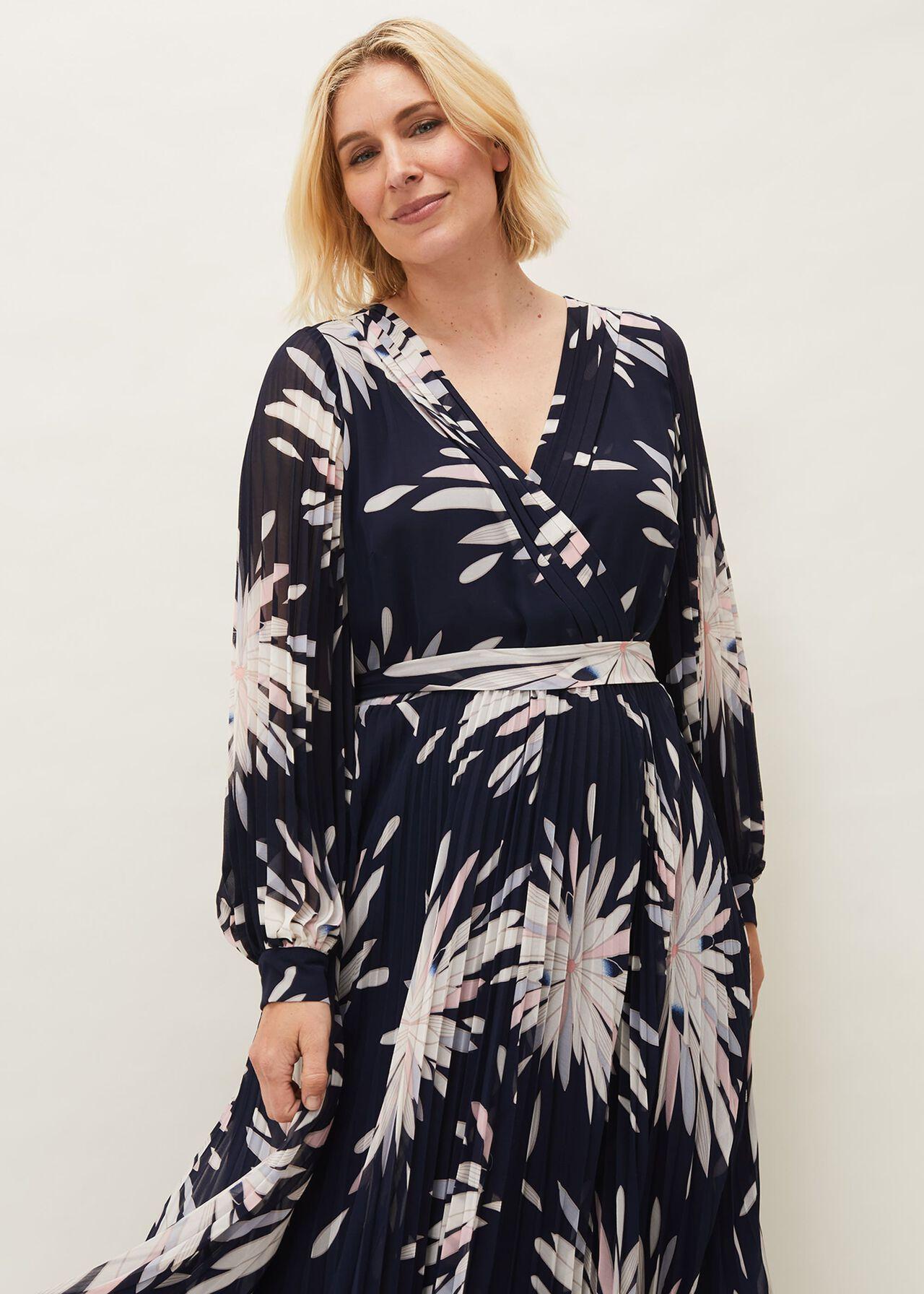 Ellen Palm Print Midaxi Dress