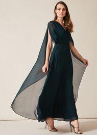 Arwen Silk Drape Dress