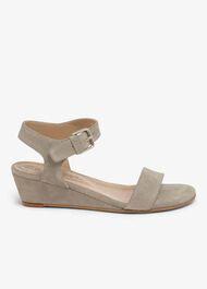 Barbara Leather Wedge Sandals