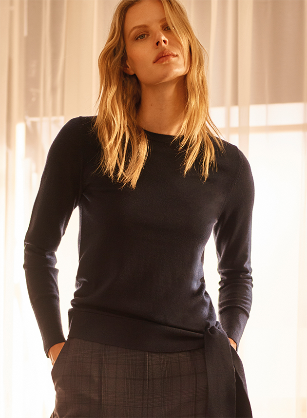 Shop Tessa Tie Side Merino Knit