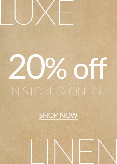 20% off Linen