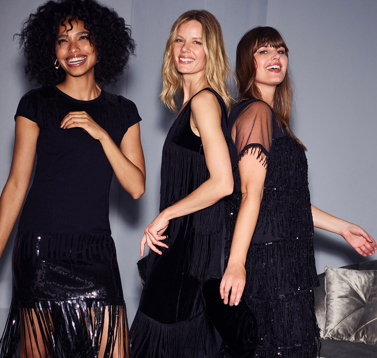 Ferne Fringe Sequin Dress | Missy Fringe Dress | Matlida Sequin Fringe Dress