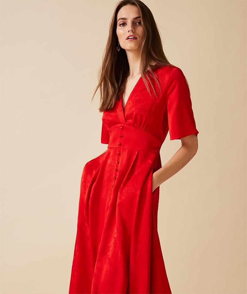 Caprice Jacquard Dress
