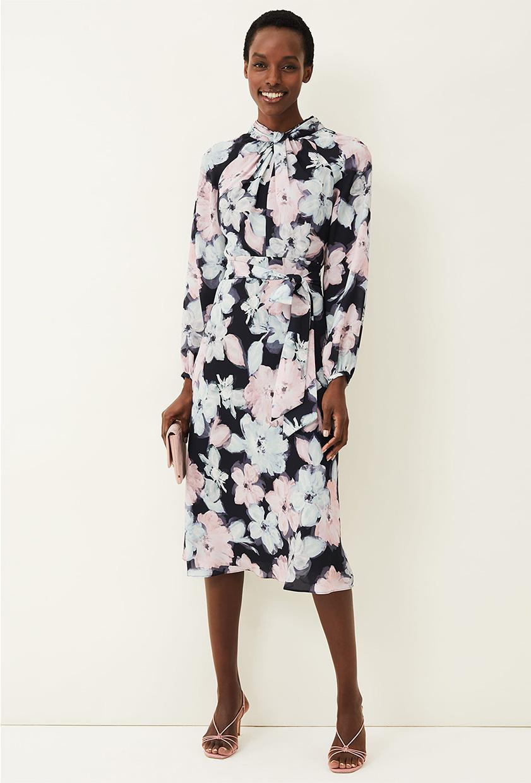 Ella Floral Print Dress