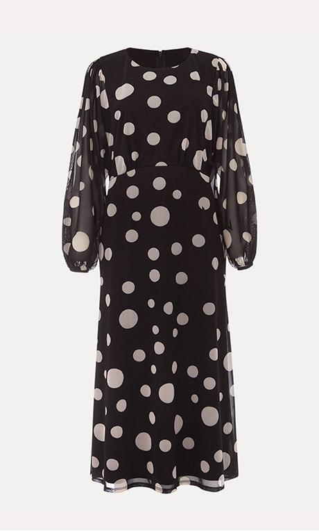 Vita Spot Mesh Print Dress