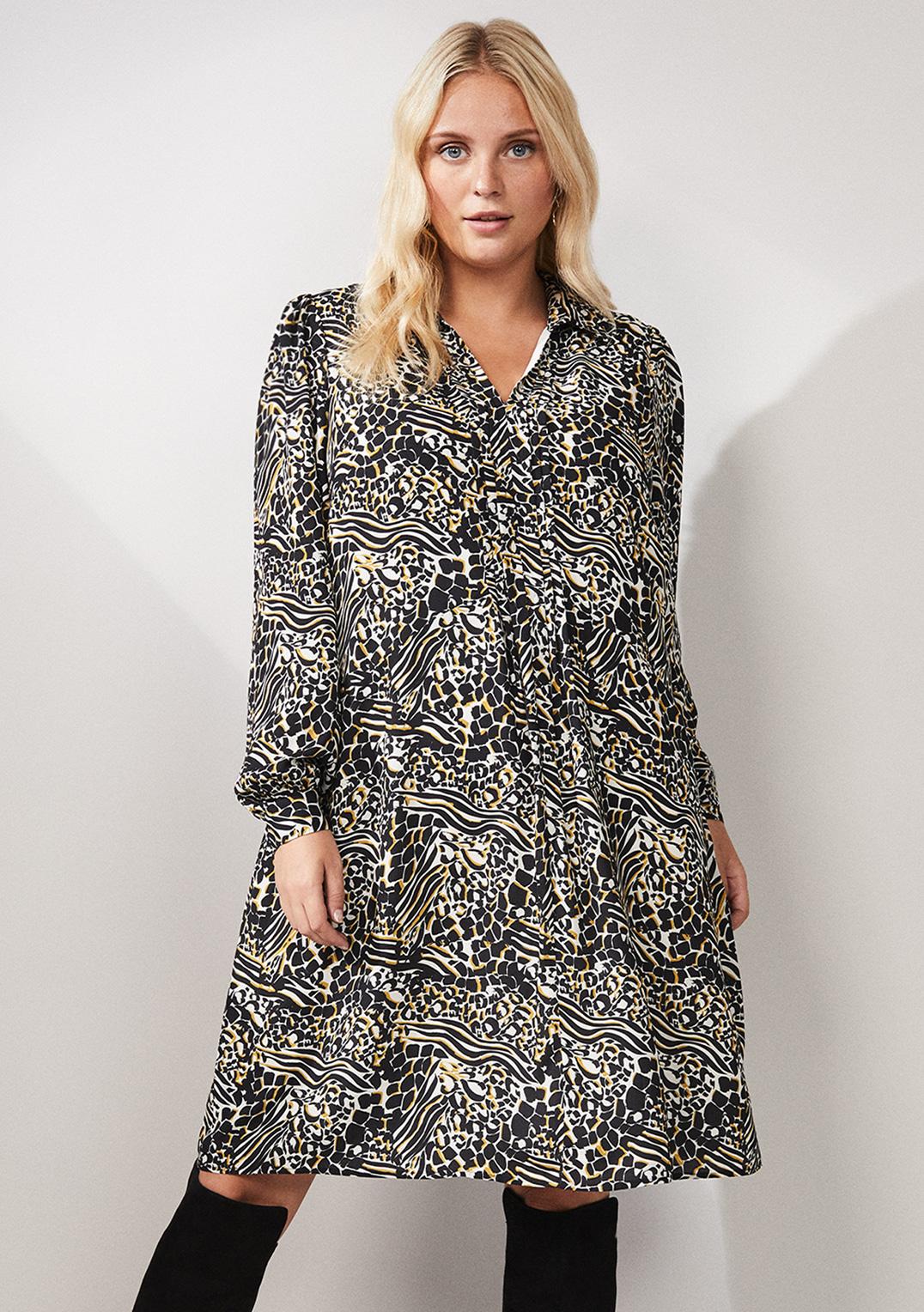 Elle Printed Swing Dress